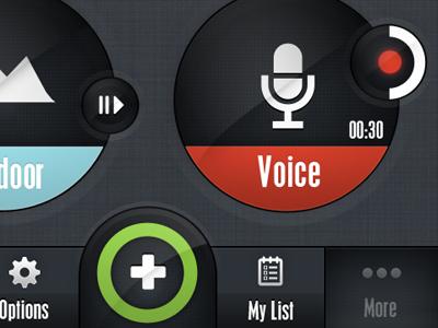 App UI - Nav Bar app ui iphone app ui design ui design navigation set nab bar app bad bar voice red plus iphone green iphone ui iphone application black