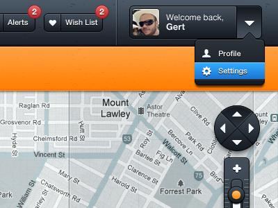 Top UI - Wip Project app web app map ui design uiux ui ui ux