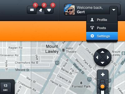 Top UI - Wip Project (update) ui ui ux ui design map web app app