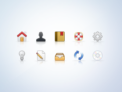 32px Icons (part02) icons 32px profile settings archive files home bookmark lp help edit refresh disc