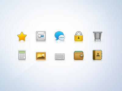 32px Icons (part03) 32px icons apple calculator money trash pictures keyboard general message lock favorite contacts star