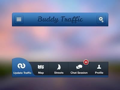 BT UI Facelift buddy traffic bt buddy traffic buddytraffic app iphone app map ui design ui ux ui