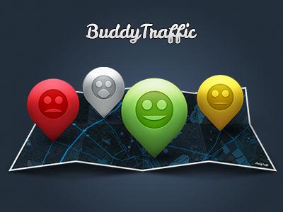 """""""BT"""" Illustration illustration buddy traffic map pins bt buddytraffic"""