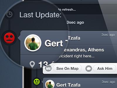 """""""BT"""" Feed Screen bt buddytraffic app ui mac apple app iphone ui design buddy traffic"""