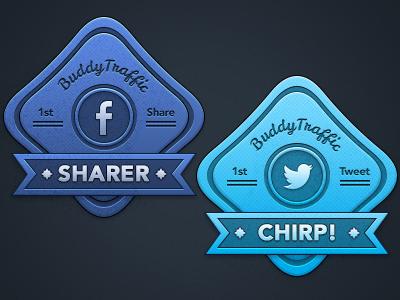 """BT"" Share Badges badges share twitter tweet fb facebook badge"