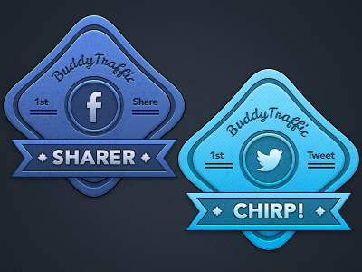 Tweet fb badges
