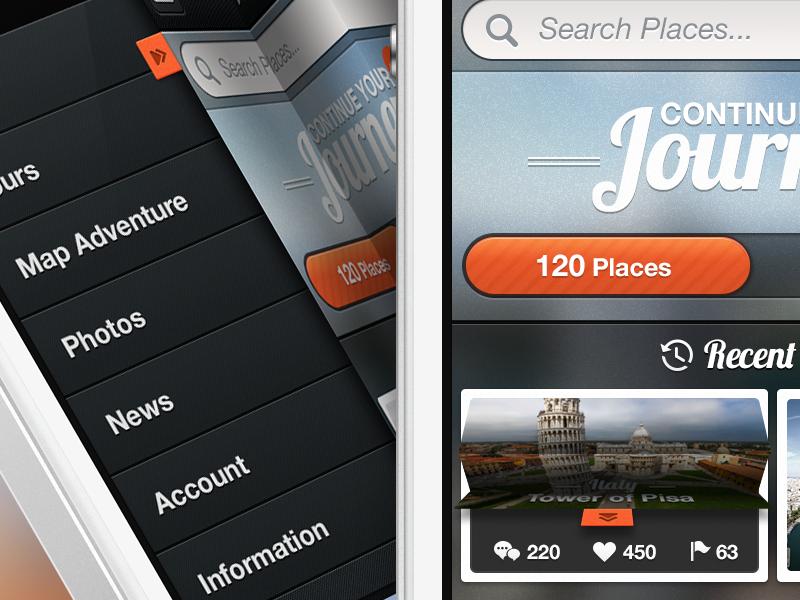 App Concept - UI ui app ui ios app iphone app photos folded