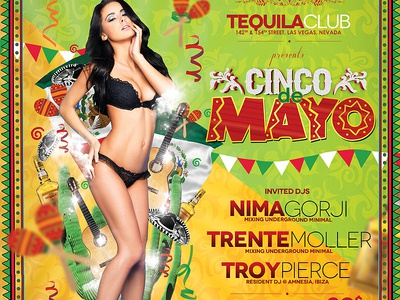 Cinco de Mayo Poster cinco de mayo beer caribbean carnival celebration chili cinco festival fiesta gun halloween holiday independence day latin mariachi mayo mexican mexico mexico independence party red restaurant sombrero tequila
