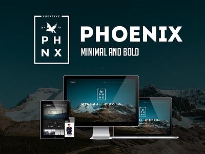 Phoenix - Minimal Multipurpose Portfolio ajax bold creative minimal minimal design minimal parallax multipurpose one page one page parallax parallax portfolio pricing table