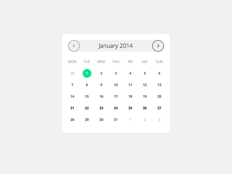 Date Picker date picker calendar selector year ui interface day month