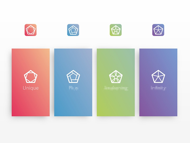 Branding for a family of apps branding app icons ios universe ui mobile logos