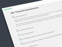 FAQ page design