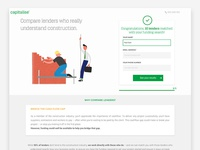 Capitalise construction landing page
