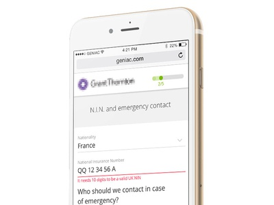 Mobile stepped onboarding