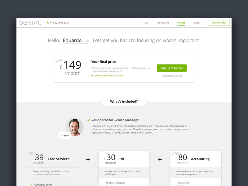 Pricing page desktop ux ui tool plans page pricing