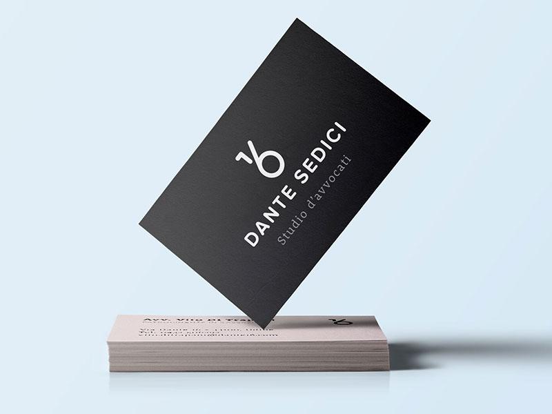 Dante 16 Law firm identity firm identity business card typography drawn hand italian italy logo branding associates lawyer