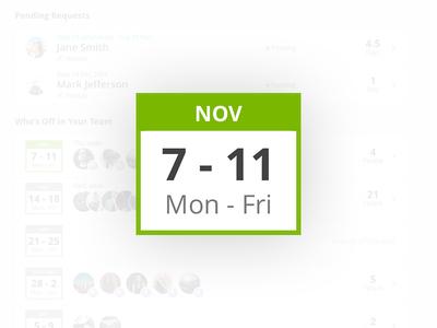 Weekly calendar UI