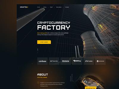 Web site - Cryptex mining bitcoin company cyberpank money factory darck mining block chain ux  ui cryptocurrency cryptocurrencies bitcoin web design