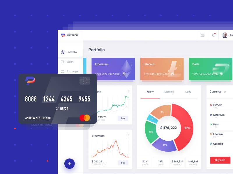 PayTeh dashboard   Hello dribbble bitcoin cryptocurrency web design uiux dashboard