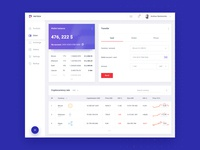 Paytech - wallet dashboard