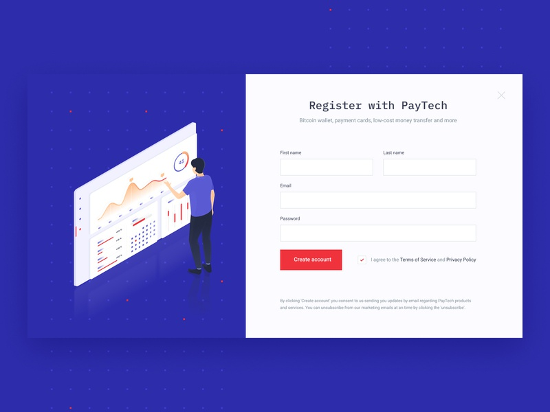 Paytech - wallet dashboard web design cryptocurrencies illustration ux dashboard bitcoin cryptocurrency ico