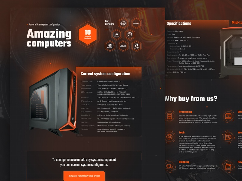 Amazing computers design ui illustration ux darko black store shop computer web design tech design