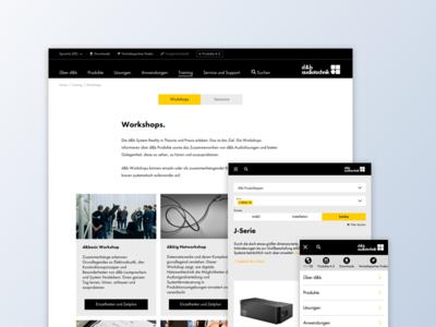 Screendesign responsive design concept ui