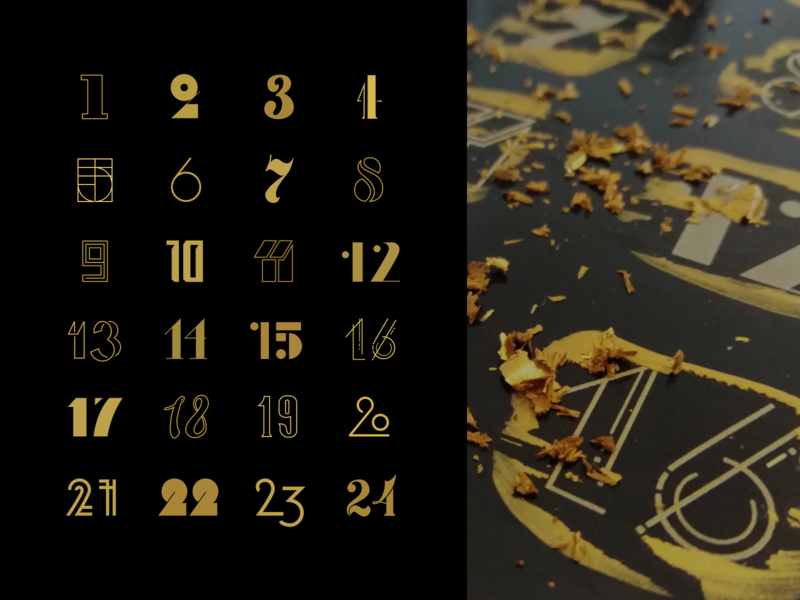 typography calender christmas typography ui