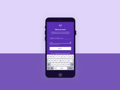 Login screen password banking app login ui