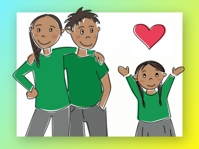 Volunteering peru kids volunteering illustration