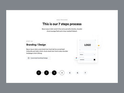 AppStudio360: Steps Process Block mobile product page website web design visual design block section landing page how to process how it works fintech app development app