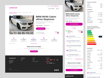 Caroutlet: Car Details page components figma home delivery cars online mobile responsive web design ux ui car website buy car sell car car outlet car details