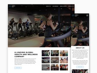 Homepage design for a Fitness brand