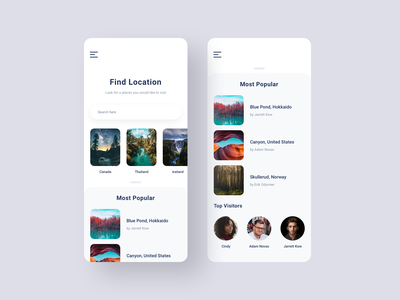 Let's find a place ux ui tracker finder sleek classy clean modern xs max iphone mobile application app places world visit browse search find location