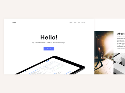 WordPress Developer Portfolio top notch simple mockup clean minimalist portfolio developer wordpress art direction