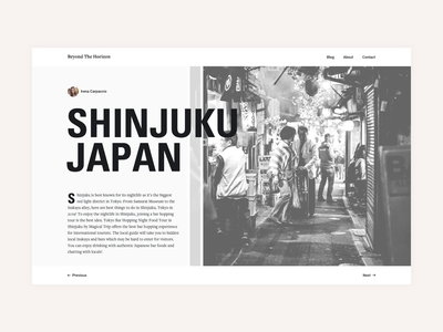 Beyond the Horizon Travel Stories travel blog art direction ux ui user interaction user experience typo typography story book japan responsive design mobile design web design