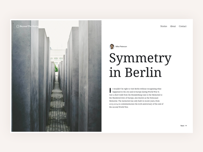Symmetry Type Layout web design book ui read post blog article font typograhpy typo layout type berlin symmetry