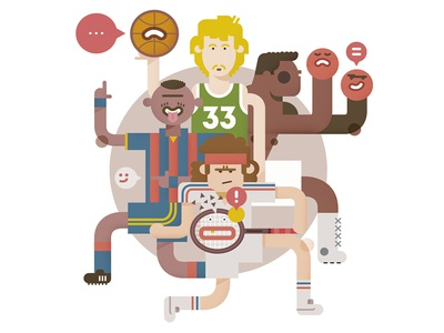 Trash Talking icon boxing football magazine vector character design editorial drawing sport trash editorial illustration illustration