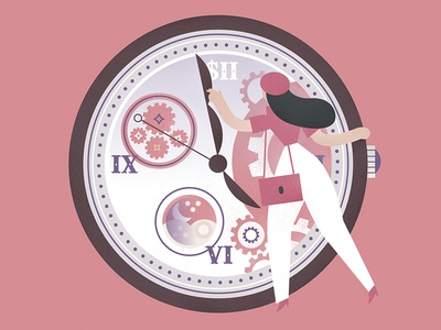 TR magazine México sales clock magazine vector character design editorial drawing woman trends watches editorial illustration illustration