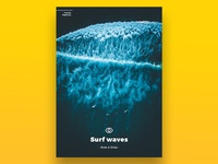 Surf Waves Poster