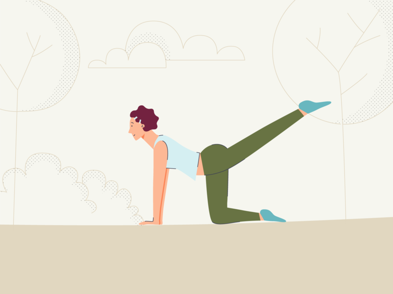 Need yoga this time park draw illustrator caracter sport yoga