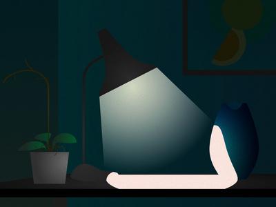Desk & light dark desk plant noise lamp design light