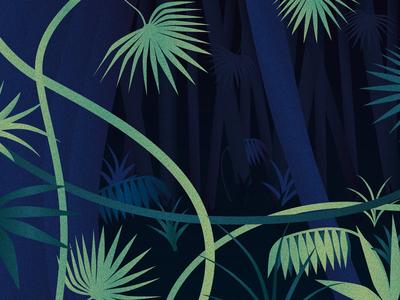 Jungle green bleu grain light dark nature jungle