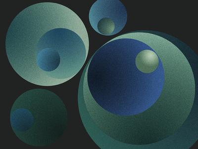 Geometrie - Part II blue green geometrie 1970 black circle simple grain color