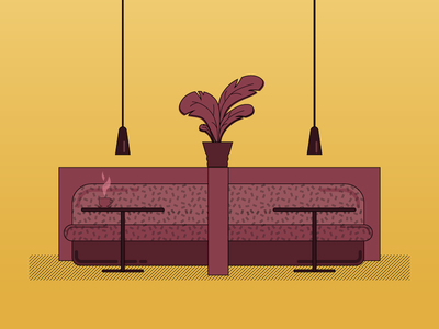 Coffee time vector restaurant illustrator illustration coffee time design furniture