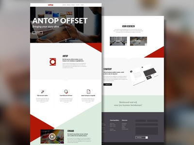 Offset Webdesign Concept