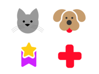 Icons for a petshop Ecommerce