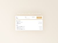 Konfi - easy meeting booking system - search component