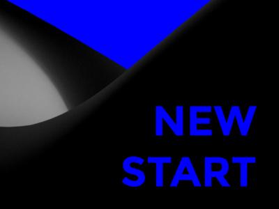 NEW YEAR, NEW START (part 02) new year typo typography blue mnml minimalist minimal clean abstract