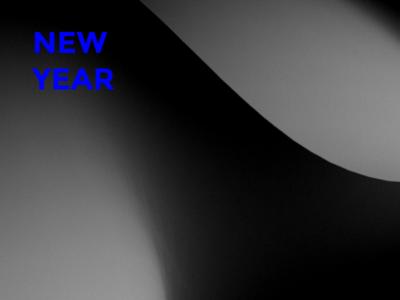 NEW YEAR, NEW START (part 01) typography typo new year mnml minimalist minimal clean blue abstract